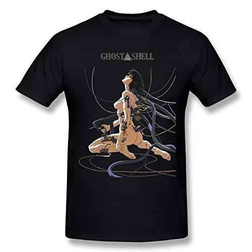 Halloween Movies In Order (Tee Times Men's Ghost In The Shell Cartoon Logo White T shirt)
