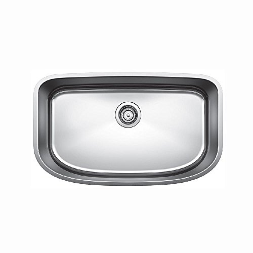 - Blanco 441586 One Super Undermount Single Bowl Kitchen Sink, Small, Stainless Steel