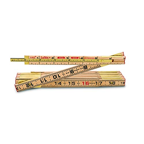 - Apex Tool Group X46 Red End Folding Wood Rule, 6-Inch