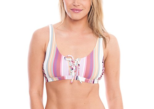ALYNED TOGETHER Women's Lace up Cami Bikini Top The Emily Sustainable Eco-Friendly ()