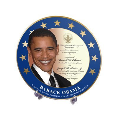 Barack Obama Commemorative Inauguration Plate with Stand