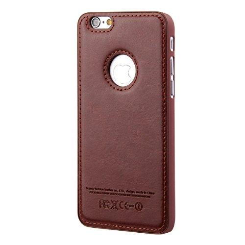 Apple iPhone 6 Hülle en Cuir,iPhone 6S Silikon Bumper Case,Ekakashop Fashion Braun Flexible Hybrid TPU Silikon Defender Protective Rabat Shell Couvercle Housse Schutzhülle Ledertasche Klapptasche Etui
