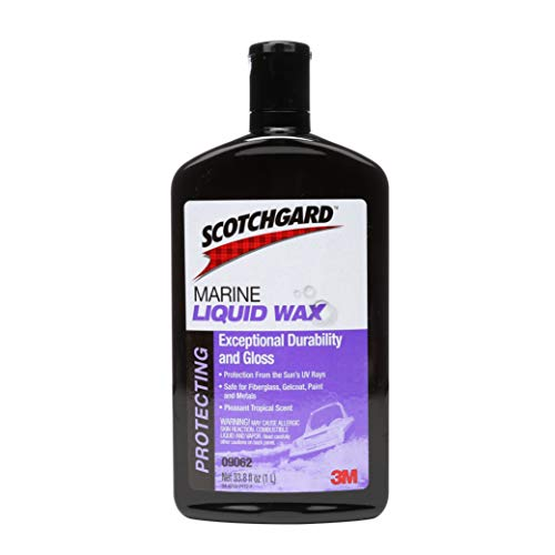 3M Scotchgard Marine Liquid Wax (09062) - For Boats and RVs - 1 Liter