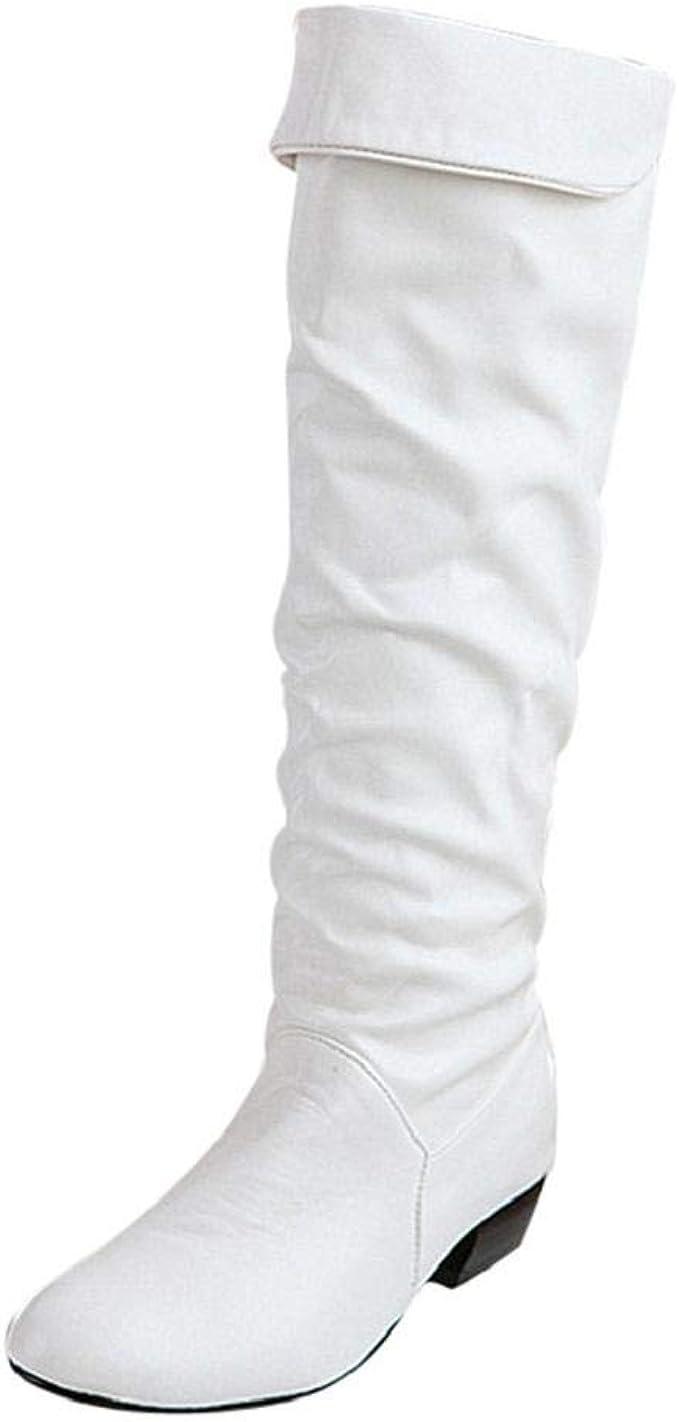 Amazon.it: stivali bianchi Cerniera Stivali Scarpe da