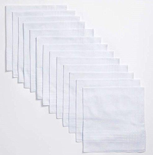 Geoffrey Beene 13 Pack Men's Fine Handkerchiefs 100% Cotton White by Geoffrey Beene (Image #2)