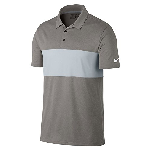Nike Breathe Color Block Golf Polo 2017 Dark Grey Heather/Birch Heather/White X-Large