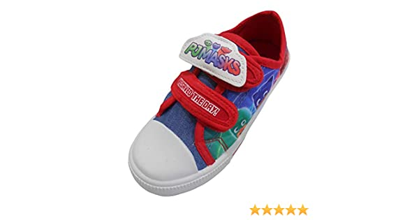 1aad1b3bfe44e Wlamb PJ Masks Day Boys Canvas Shoes
