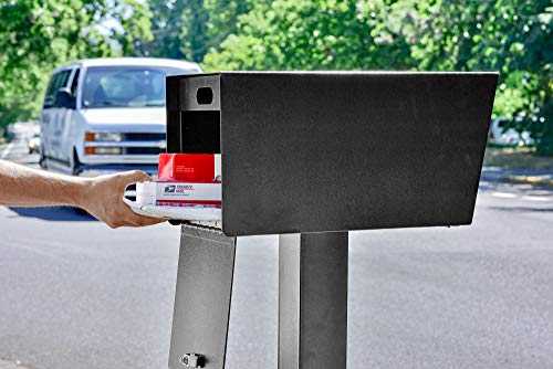 Mail Boss 7526 Mail Manager Street Safe Locking Security Mailbox, Black by Mail Boss (Image #4)