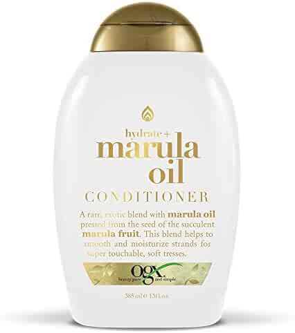 OGX Hydrate + Marula Oil Conditioner, 13 Ounce Bottle Sulfate-Free Conditioner