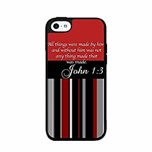 John 1:3 Bible Verse 2-Piece Dual Layer Phone Case Back Cover iPhone 5 5s