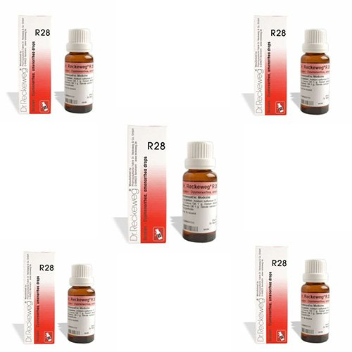 5 Lots X Dr.Reckeweg R 28 22Ml Homeopathic Medicine