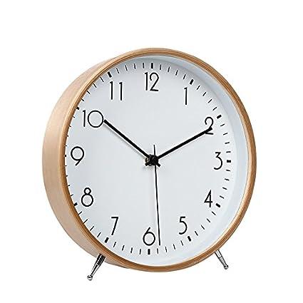 Wall clock WERLM Simple salón Dormitorio Retro Reloj de Pared Reloj de sobremesa Reloj salón Dormitorio