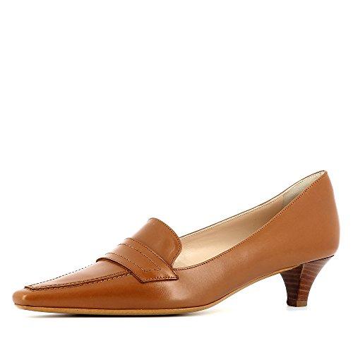 vestir Piel para mujer de coñac Zapatos Evita Lia de Shoes qwYv6ZI