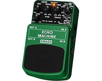 Behringer ECHO MACHINE EM600 Pedal Efecto eco Modeler Digital para Guitarra y Bajo: Amazon.es: Electrónica