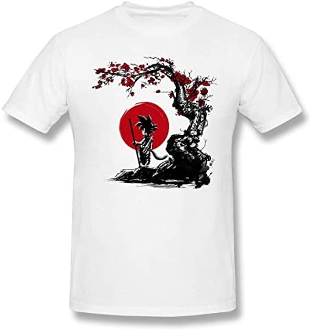 Dragon B Z Trunks Hope Under The Sun Herren/Men's Classic Short Sleeve T Shirt White Goku