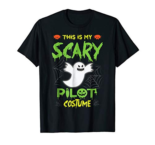 This Is My Scary Pilot Halloween Costume Tshirt -
