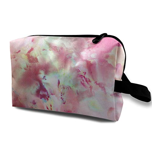 Flowers Art Cosmetic Bags Makeup Organizer Bag Pouch Zipper Purse Handbag Clutch Bag