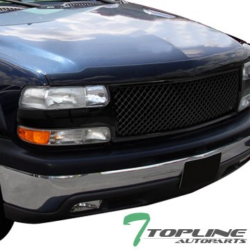 Amazon Topline Autopart Black Mesh Front Hood Bumper Grill. Topline Autopart Black Mesh Front Hood Bumper Grill Grille Cover Conversion V3 For 9902. Chevrolet. 2002 Chevy Tahoe Parts Diagram Hood At Scoala.co