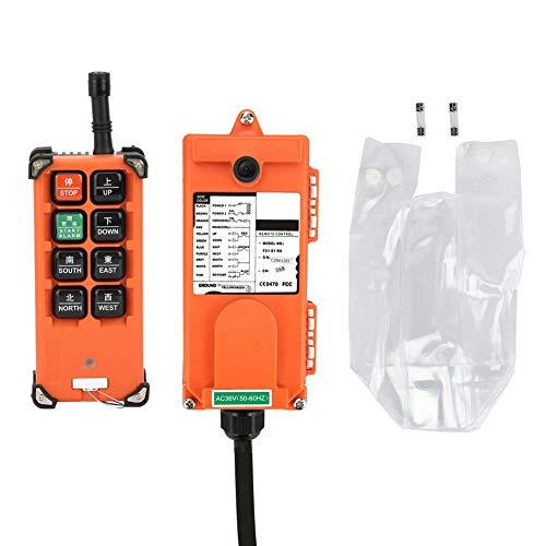 Hoist Remote Control,36V Wireless Crane 100 Meters Remote Control, Self-Locking Industrial Remote Control Transmitter&Receiver,for Single Hook Single Speed, 2 Mechanism Jog Hoist Control (Hook Single Crane)