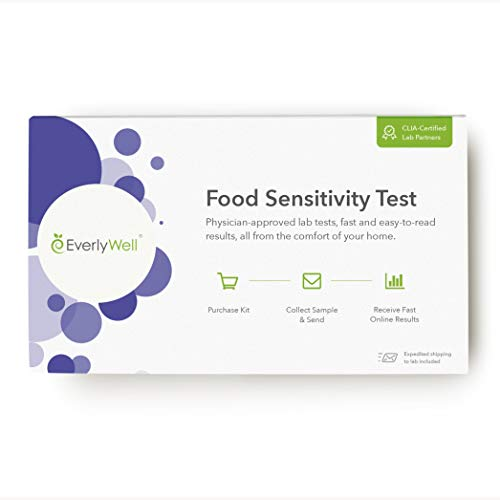 EverlyWell Food Sensitivity Testing Kit: at Home Test for Adults - Blood Test for 96 Common Sensitivities Including Dairy, Eggs, and Nuts - Not Available in NY, NJ, RI (Best Test For Gluten Intolerance)