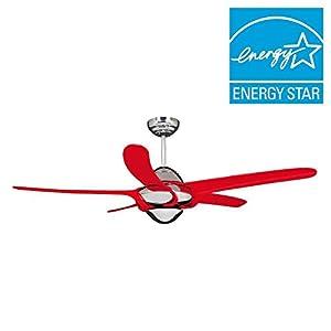 Vento uragano 54 in indoor chrome ceiling fan with 5 red blades indoor chrome ceiling fan with 5 red blades aloadofball Gallery