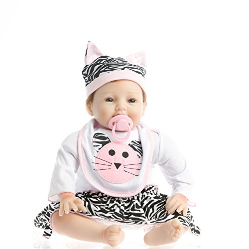 SanyDoll Reborn Baby Doll Soft Silicone 22inch 55cm Magnetic Lovely Lifelike Cute Lovely Cat Little Girl Toy