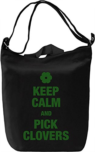 Keep calm and pick clovers Borsa Giornaliera Canvas Canvas Day Bag| 100% Premium Cotton Canvas| DTG Printing|
