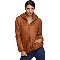 Elesol Women's Hooded Quilted Short Down Jacket (various colors & sizes)
