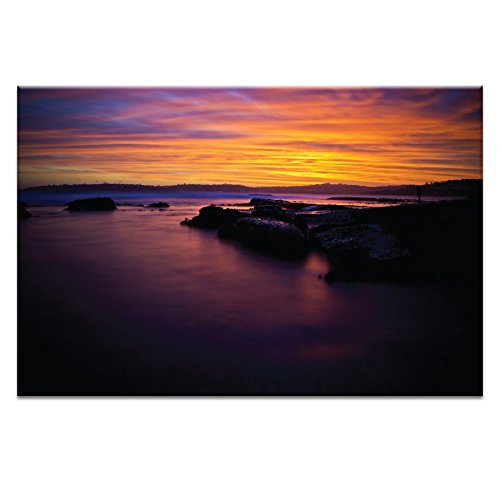 20 by 30 by 1.5-Inch Artist Lane 26RA P2638 Long Reef Sunset 4 Canvas Artwork by Rohan Anderson