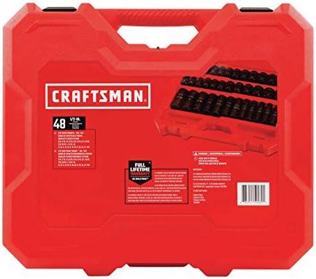 """CRAFTSMAN Deep Impact Socket Set, SAE, 1/2"""", 48Piece (CMMT16548)"""