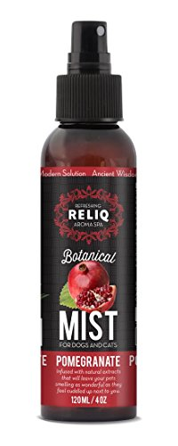 RELIQ Aroma SPA Pomegranate Botanical Mist cologne for Dogs & Cats. Spray on the coat after bath to give your dog a clean & fresh smell. Infused with natural extracts, ()