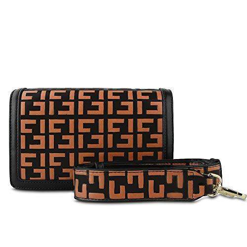 - Olyphy Vintage Women Designer Handbag Fashion Shoulder Bag Top Handle Handbag (orange)