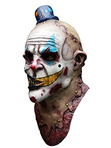 [Mime Zack Scary Zombie Clown Latex Head and Neck Mask Halloween Horror by CC] (Scary Mime)