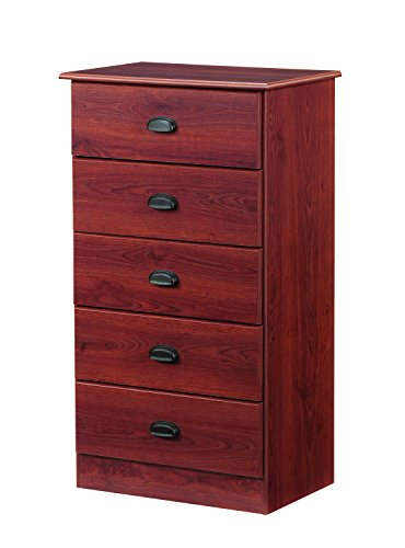 Lang Furniture Special 5-Drawer Chest with Roller Glides,...