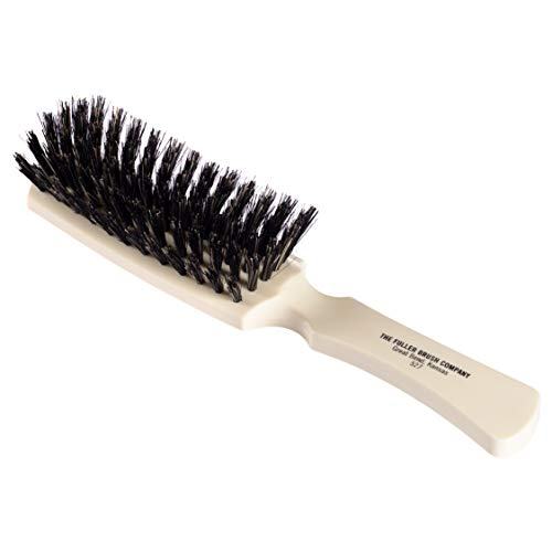Fuller Brush Lustre Professional Hairbrush - 6 Row Styling Hair Brush & Volumizer w/ Natural Boar Bristle For Smoothing Straight, Short Fine or Damaged Hair