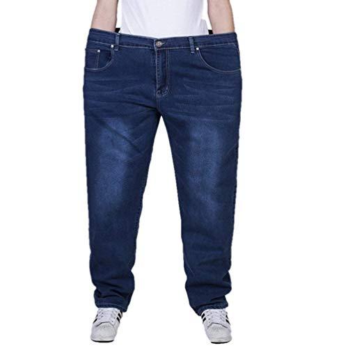 Ajustados Pantalones Casual Pantalones Flojos Mezclilla Casual Tamaño Blau Pantalones Pantalones Gran Joven Transpirable Largos Hombres Estirados Vaqueros De De Rectos para Xpnz6OB