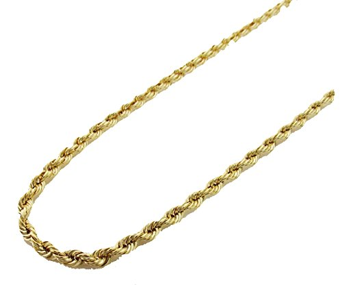 14K Gold Italy Yellow Rope Chain 18'' 4mm wide Hollow by Melano Creation