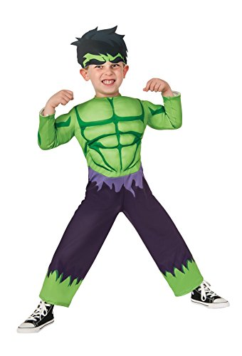 GTH Boy's Hulk Toddler Kids Child Fancy Dress Party Halloween Costume, Toddler (1-2) (Hulk Costume Toddler)