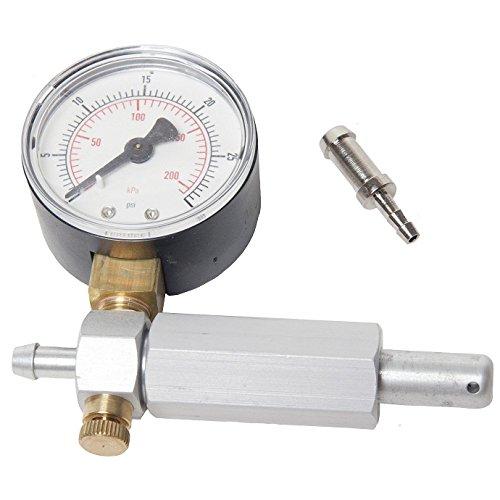 RA Carburetor/Crankcase Pressure Gauge Leak Detector Up to 30 PSI with Plastic Box ()
