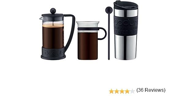 Bodum - K10948-01 - Coffe Set - Set de café - cafetera 3 Tazas - 0 ...