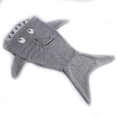 Blanket Saco de Dormir de Cola de Sirena con Manta de tiburón , Suave y cómodo Sofá de la Sala de Estar Saco de Dormir para niños Otoño e Invierno, ...