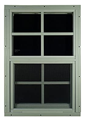 "Shed Windows 14"" W x 21"" H - Flush Mount w/Safety Glass - Playhouse Windows"