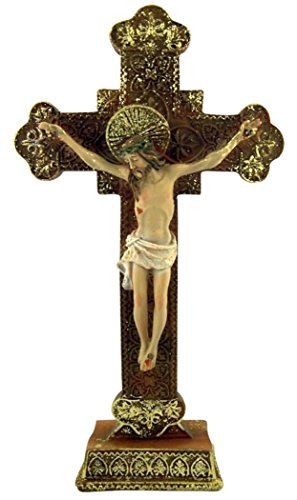 Catholic Brands Jesus Christ on Cross Ornate Style Standing Crucifix, 8 Inch ()