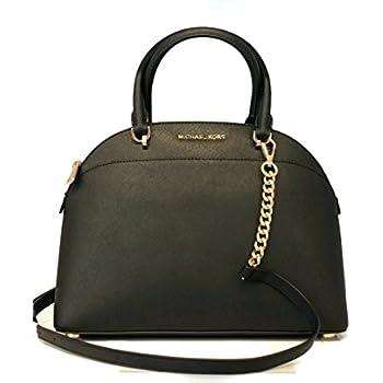 72928fab8dec88 MICHAEL Michael Kors Large Dome Emmy Saffiano Leather Satchel Shoulder  Handbag - Black