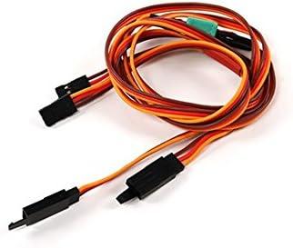 2サーボ分のコネクタを一気に接続する延長コード JRタイプ 70cm エルロン/フラップサーボ等
