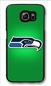S6 Case, Galaxy S6 Case, Customize Samsung Galaxy S6 Hard Plastic Black Case Protection Shockproof Case Cover for New Galaxy S6 2015 - Seattle Seahawks