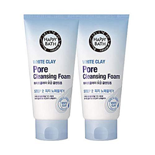 Happy Bath Whiteclay Cleansing Foam 2ea (175g + 175g)