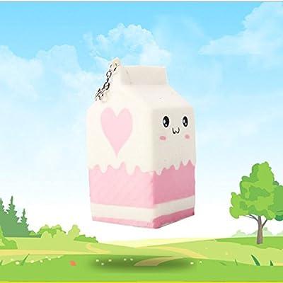 Quate PU lente rebond Simulation Squishy papier Cat PU moussant de décompression Jouets milk box