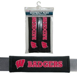 Wisconsin Badgers Velour Seat Belt Pads