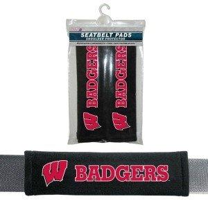 Wisconsin Badgers Velour Seat Belt Pads